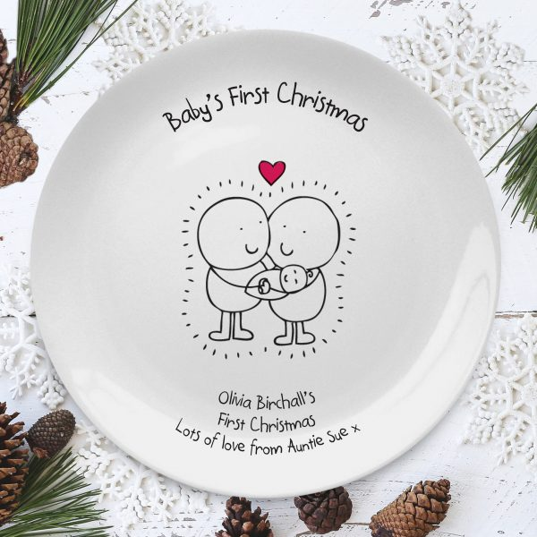 Chilli & Bubbles Personalised Babys First Christmas Plate