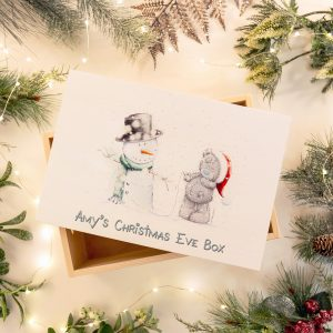 me to you tatty & snowman personalised Christmas Eve box
