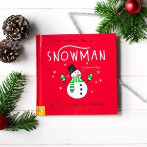 I'd rather be a snowman personalised christmas book